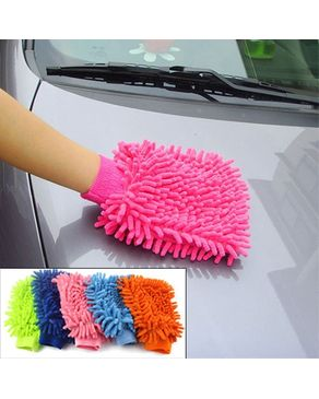 Easy Shop Pakistan Microfiber Car Wash Washing Cleaning Glove #3335