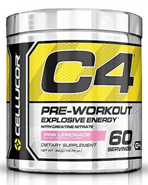 Cellucor C4 Pre Workout Supplements with Creatine - 60 Servings - 13.75 Oz(390g) - Pink Lemonade