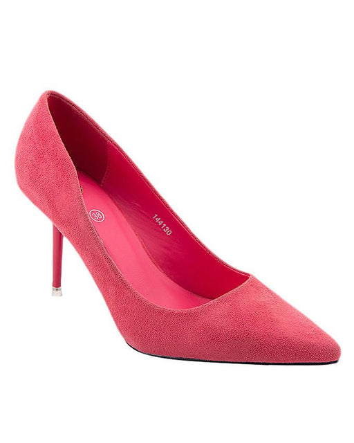 Insignia I44130- Pink Synthetic Leather Winter Coat Pumps - Euro Size