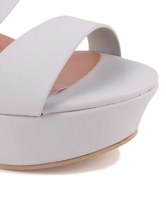 Insignia I32373 - Grey Synthetic Leather Wedges For Women - Euro Size