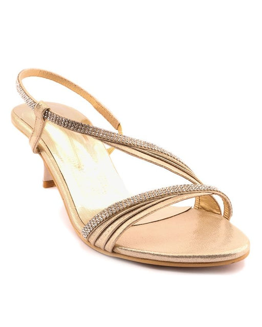 Stylo Shoes L65722 - Golden Color Synthetic Leather Heel - US Size