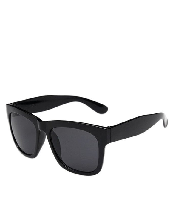 Black Plastic Cat Eye Sunglasses For Men