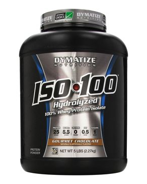 Dymatize Nutrition ISO 100 - Whey Protein Powder - 5lbs(2.27kg) - Gourmet Chocolate