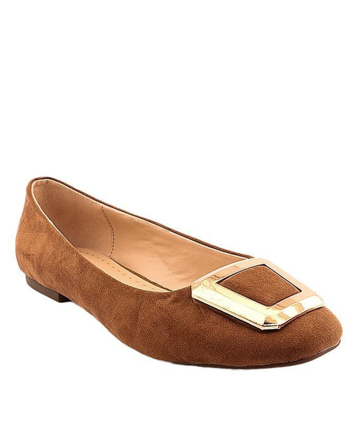 Stylo Shoes L95093 - Brown Color Synthetic Leather Pumps - Euro Size