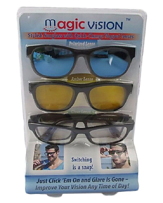 Pack of 3 - Day & Night Vision Glasses - Multicolor