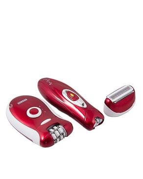 BR-3068 - Rechargeable Hair Remover for Women - Red