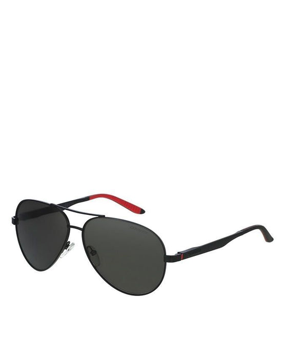 Carrera Matte Black Frame with Grey Polarized Lens Sunglasses