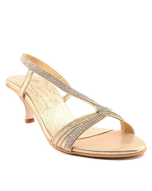 Stylo Shoes L65698 - Golden Synthetic Leather Sandals - US Size