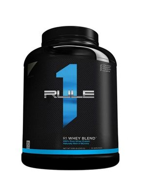 Rule1 Whey Blend Protein - Chocolate Fudge - 5lbs - 70 Servings