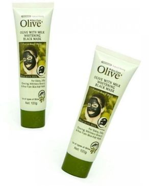 Pack of 2 - Olive Face Whitening Black Mask