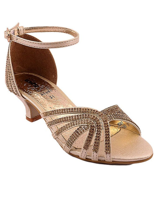Stylo Shoes C41481 - Golden Synthetic Leather Sandals For Women - Euro Size
