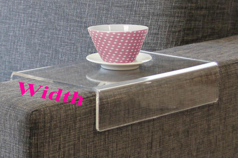 Anabelle  - Clear Acrylic Arm Rest Caddy - customized width