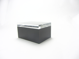 """Maspeth""  Falken Design Lucite Box With Crystal Clear 1"" thick Lid: 7""x5""x3"""