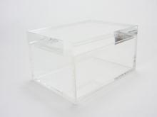 """Maspeth""  Falken Design Lucite Box With Crystal Clear Lid: 7x5x3x1"""