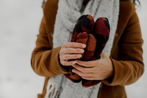 Ember Upcycled Sherpa Mittens
