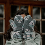 Blush Upcycled Sherpa Mittens