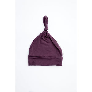 Purple Top Knot Hat