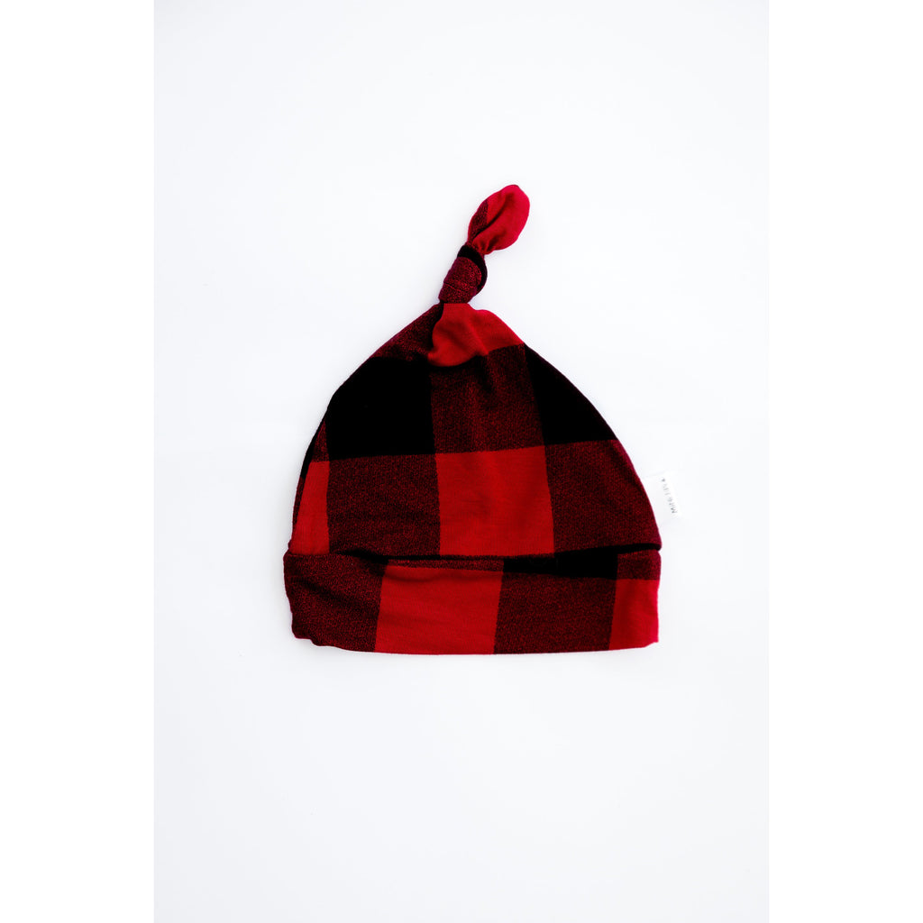 Red and Black Plaid Bamboo Hat