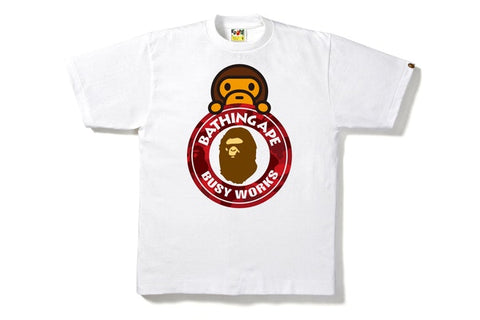 54963c9a8a5d Bape Color Camo Milo On Busy Works Tee White/Red
