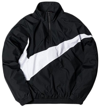 b671c22d2f93 Kith Nike Big Swoosh Quarter Zip Black