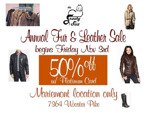 Snooty Fox Fur and Leather Sale 2017