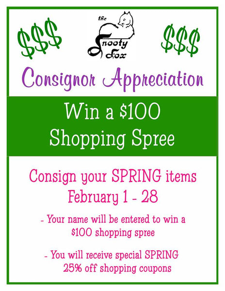 Snooty fox consignment accepting spring