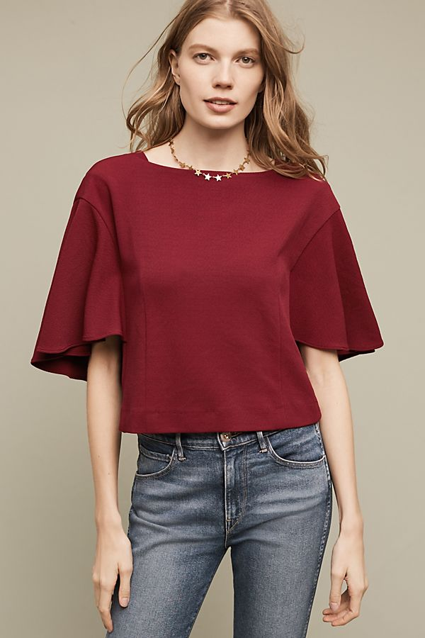 Anthropologie Eri+Ali Cropped Viv Top- size XS