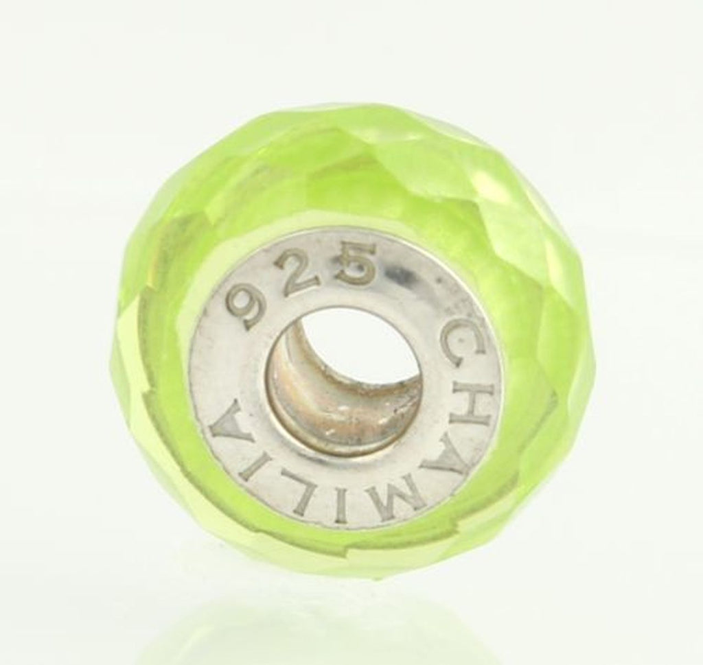 Chamilia Yellow/Green Jeweled Collection Bead