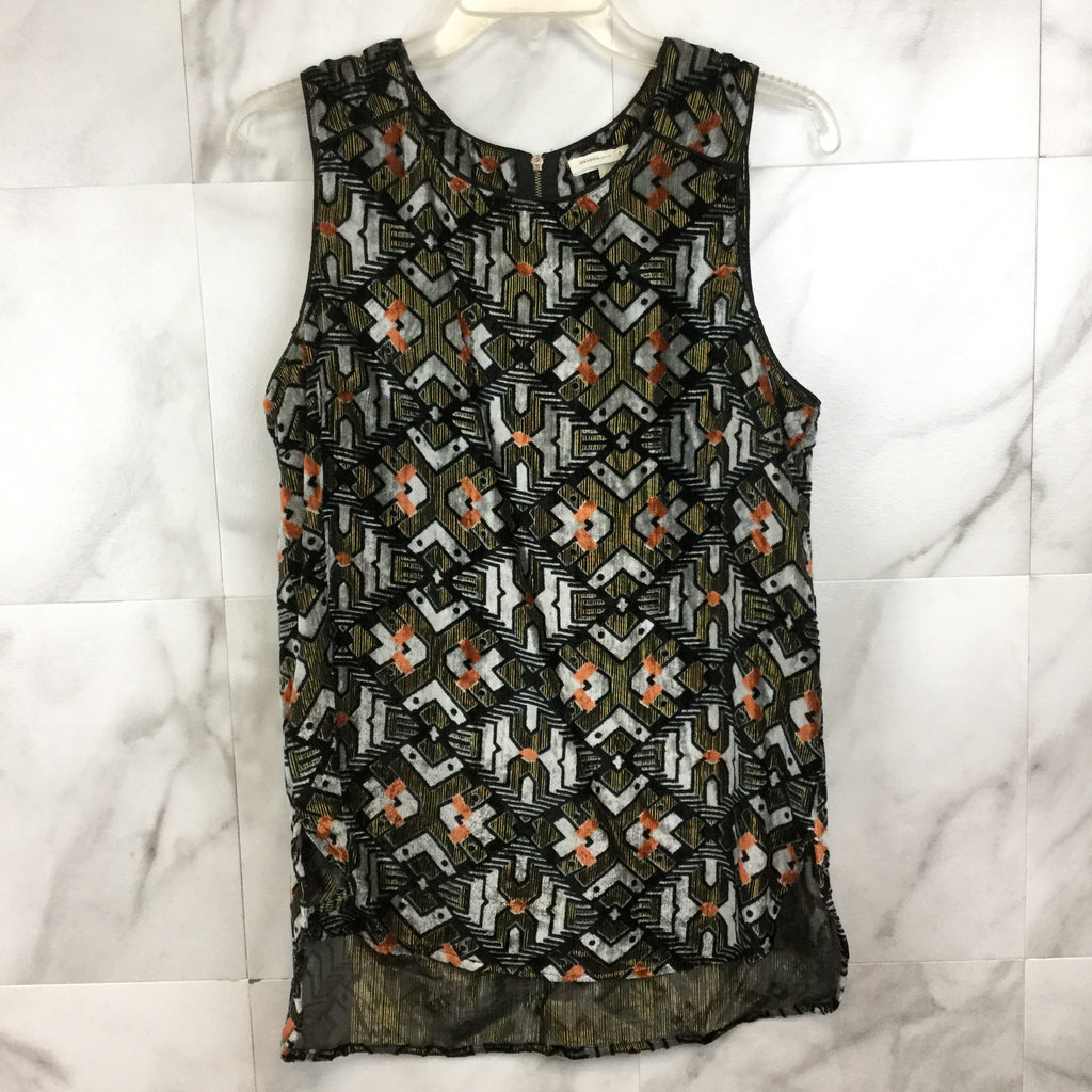 Anthropologie Meadow Rue Shimmered Velvet Tank- size M