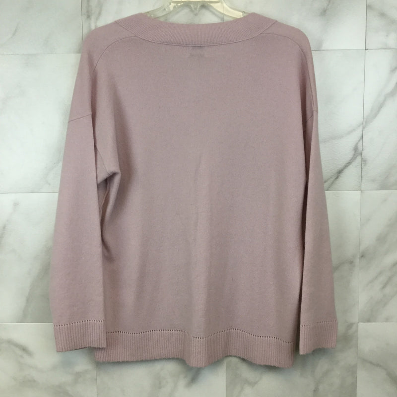 Vince Pointelle Trim Cashmere Sweater - L