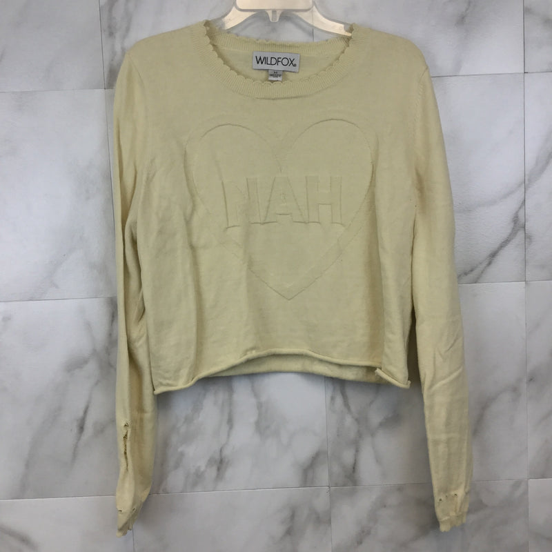 "Wildfox ""nah"" Distressed Sweater - M"