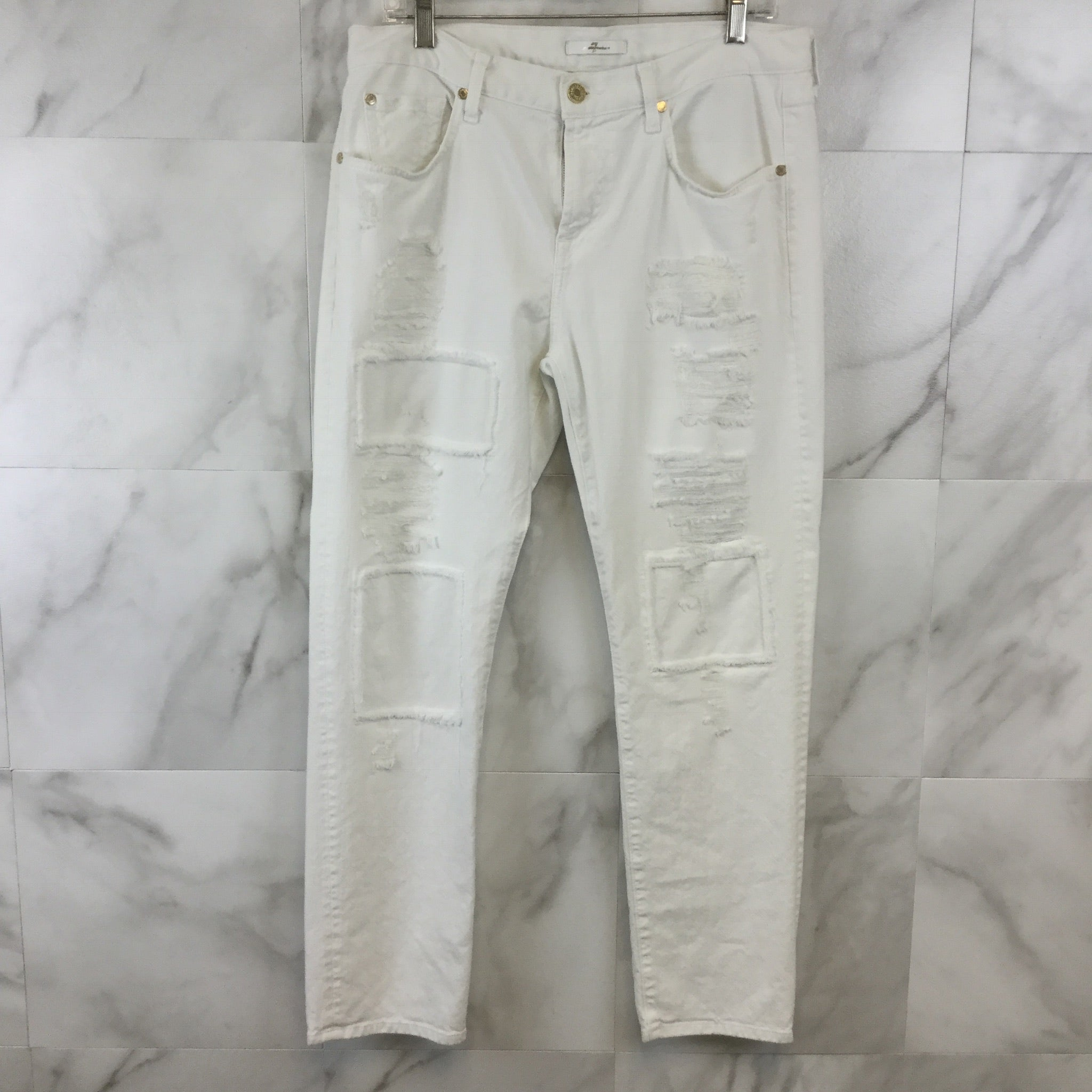 7 For All Mankind Distressed Boyfriend Cut Jeans size 29