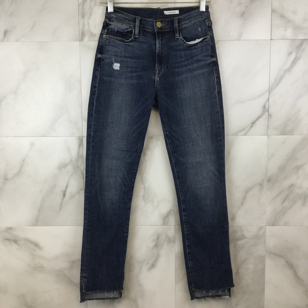 Frame Le High Straight Staggered Hem Jeans - size 27