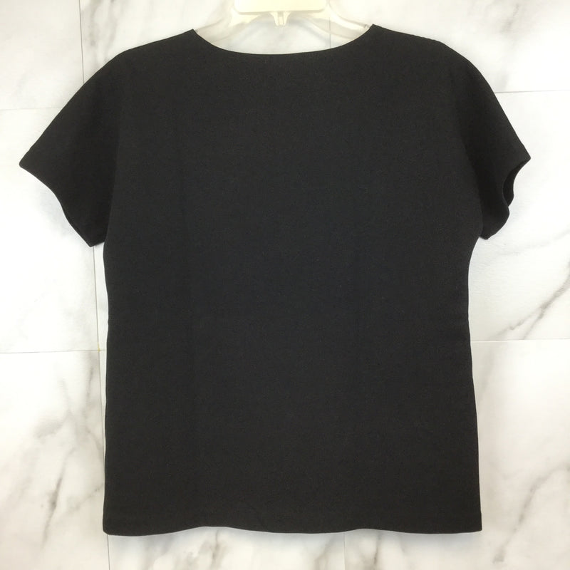J.Crew Black Jeweled Dolman Top- size S
