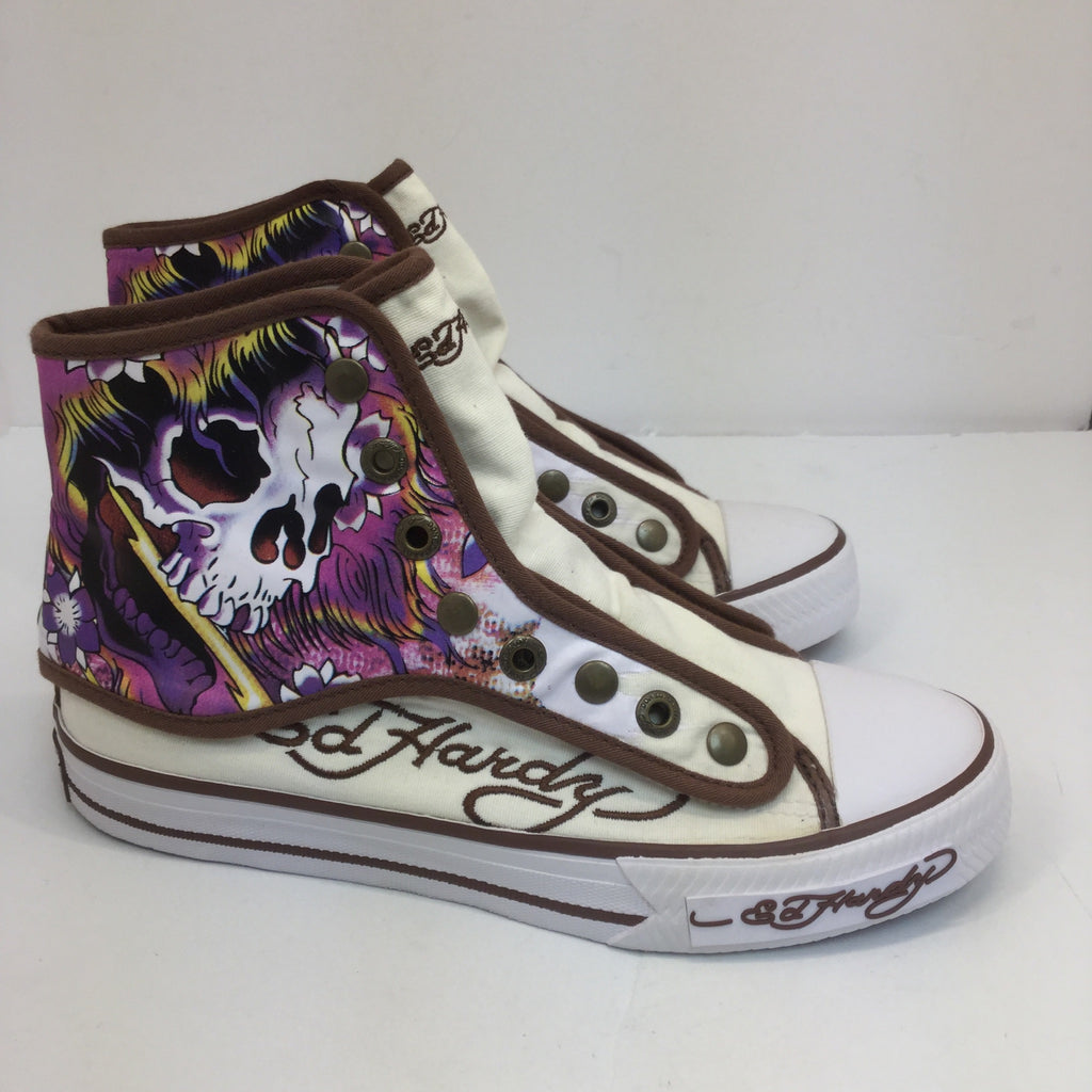Ed Hardy High to Low Top Sneakers -size 5