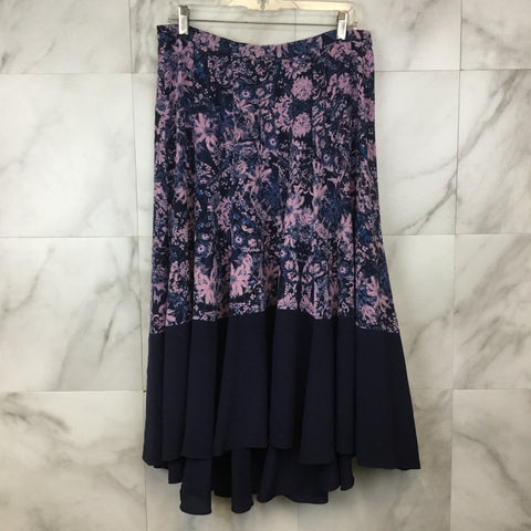 Anthropologie Maeve Black Floral Jumpsuit- size 6