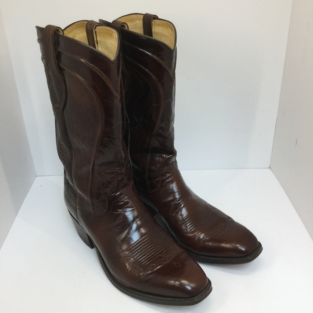 Men's Dan Post Chocolate Leather Boots size 10