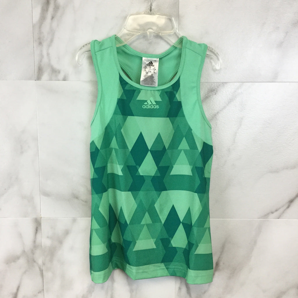 Girl's Adidas Green Glo Club Tank size Small