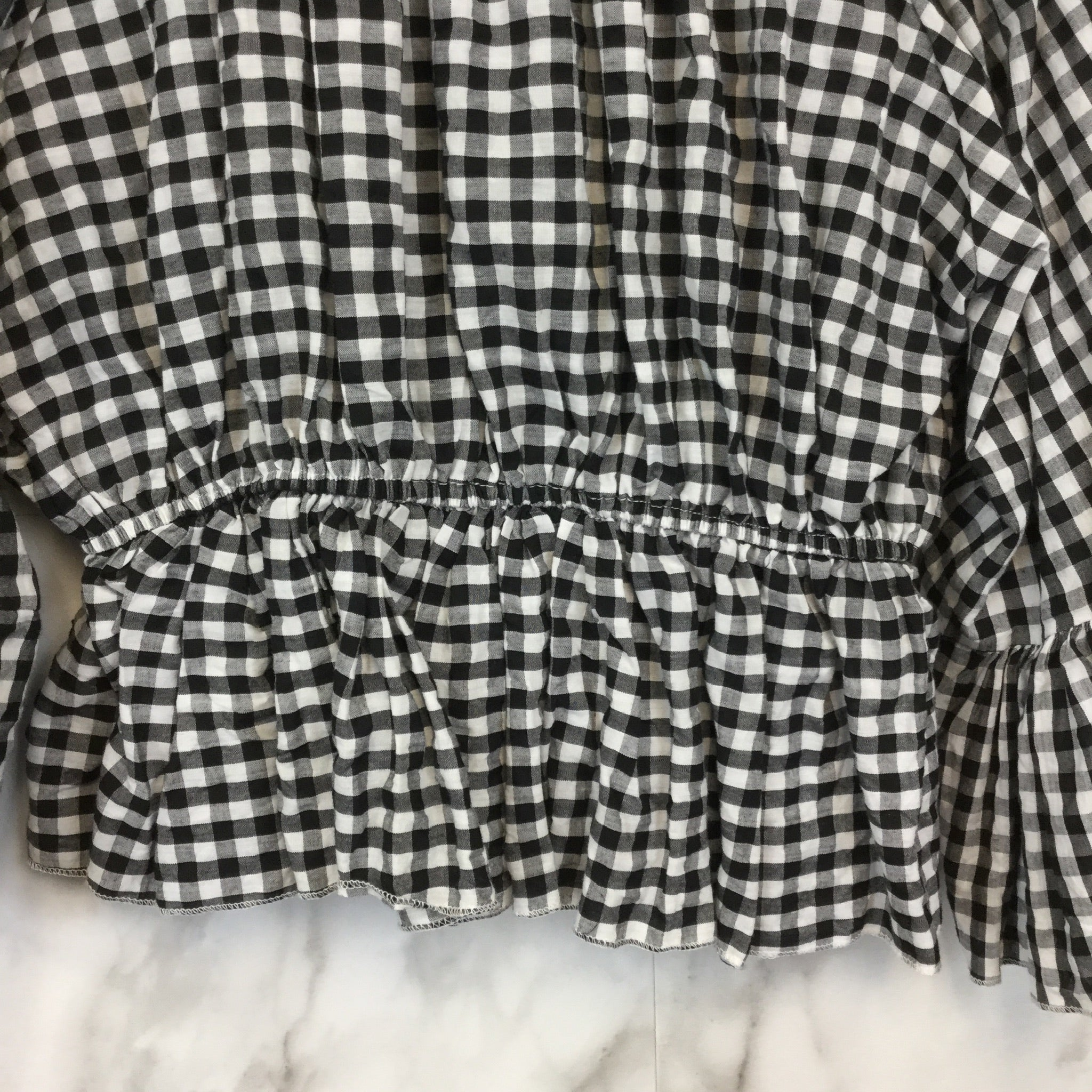 Chicwish Check Ruffled Off-Shoulder Top - Size S/M