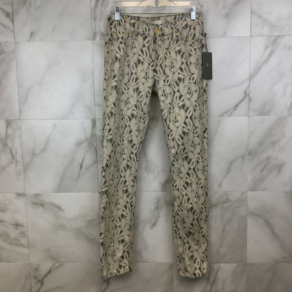 7 For All Mankind Lace Skinny Jean- Size 29
