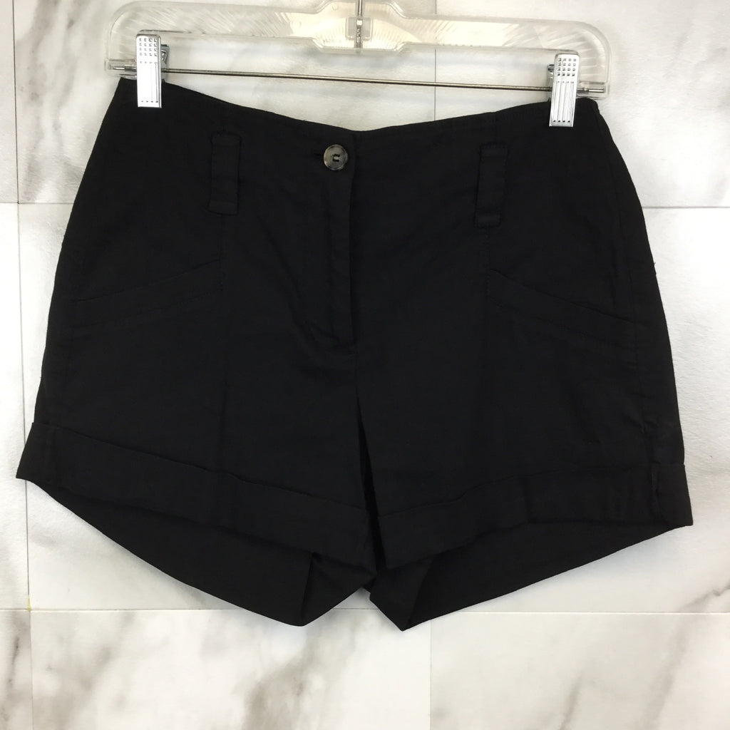 Theory Black Cuffed Shorts- size 6