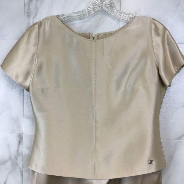 Vintage Chanel Silk Three-Piece Set - size 10