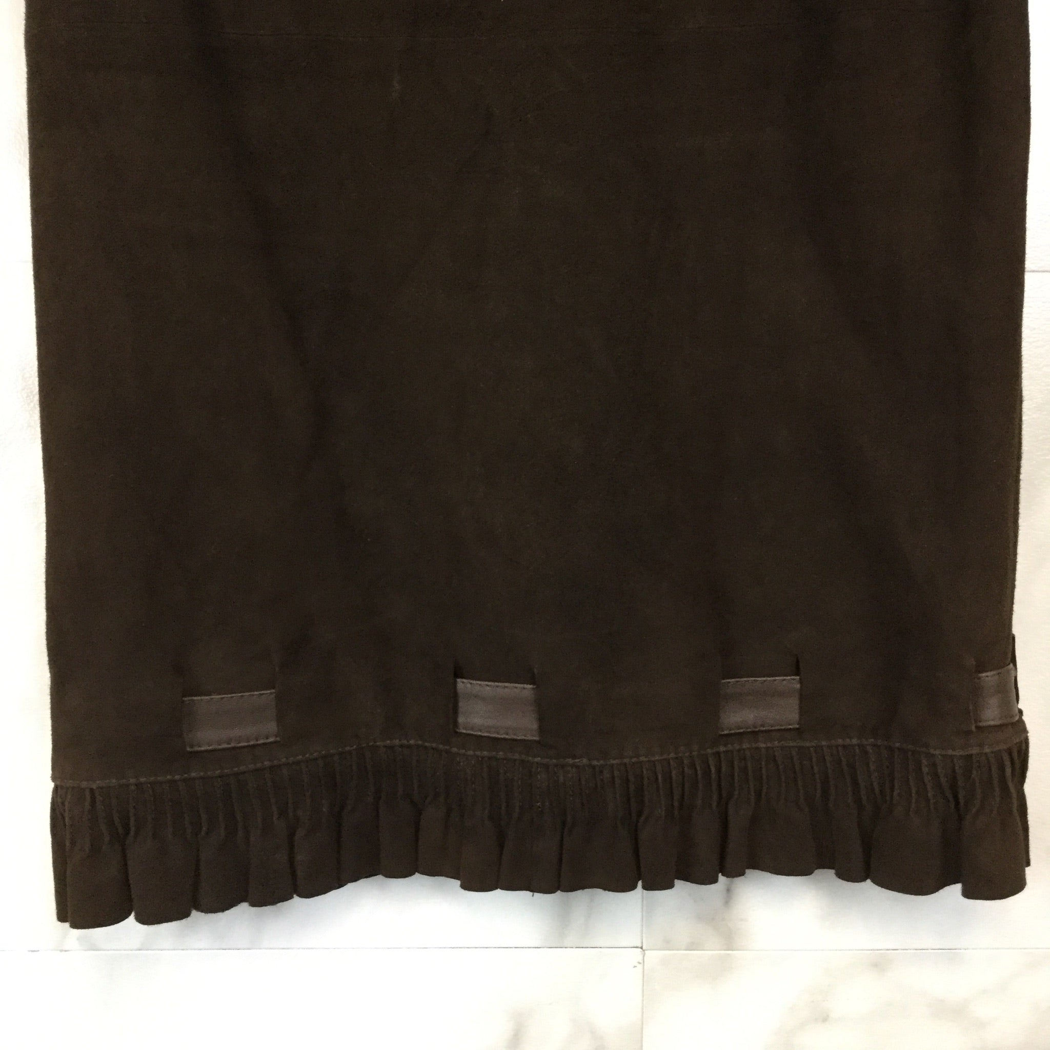 Vintage Valentino Boutique Suede Skirt - size 0