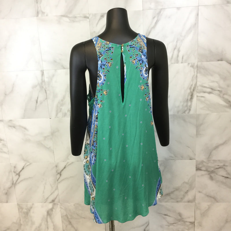 Free People Darjeeling Printed Slip Dress size Small