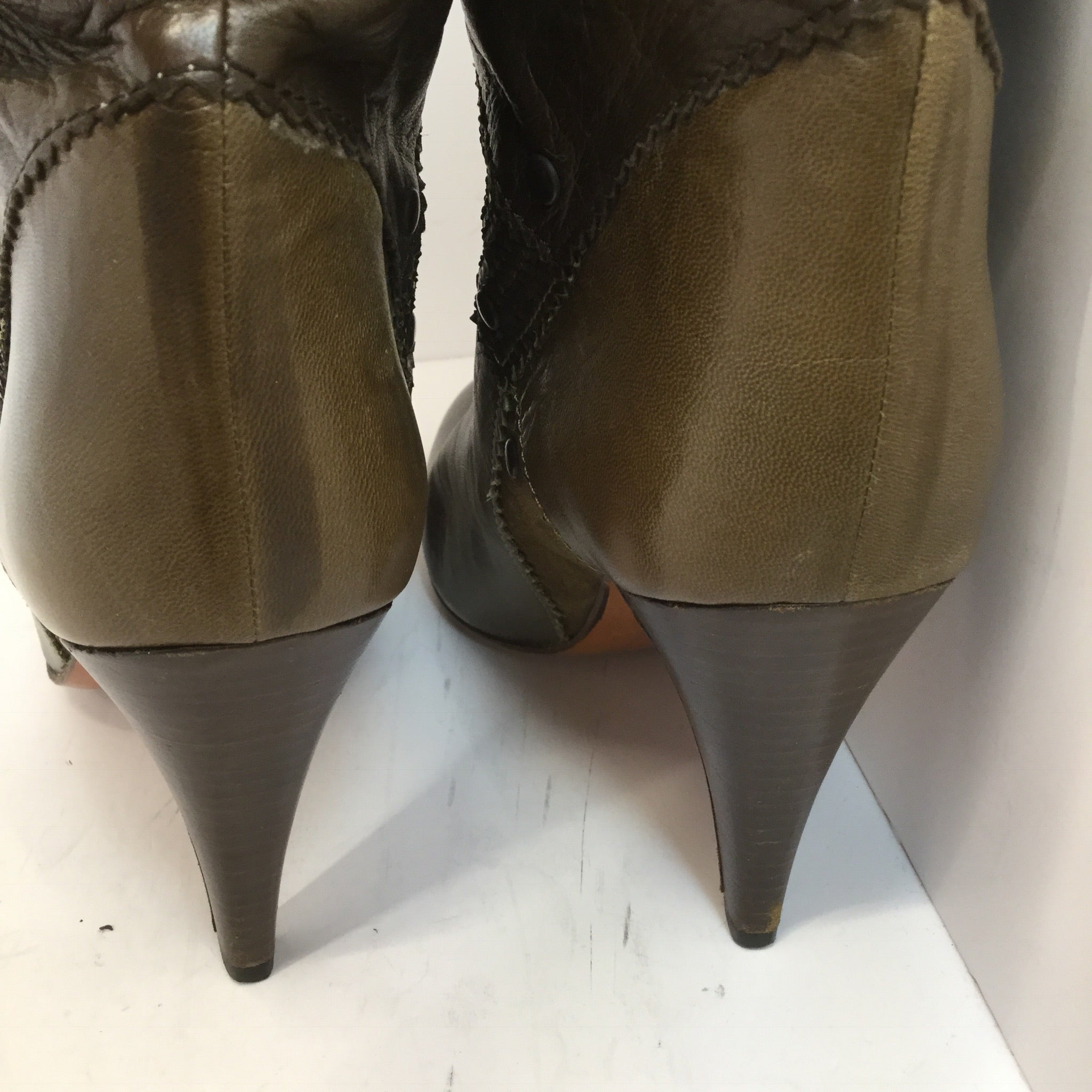 Ottorino Bossi Patchwork Leather Boots - size 36.5