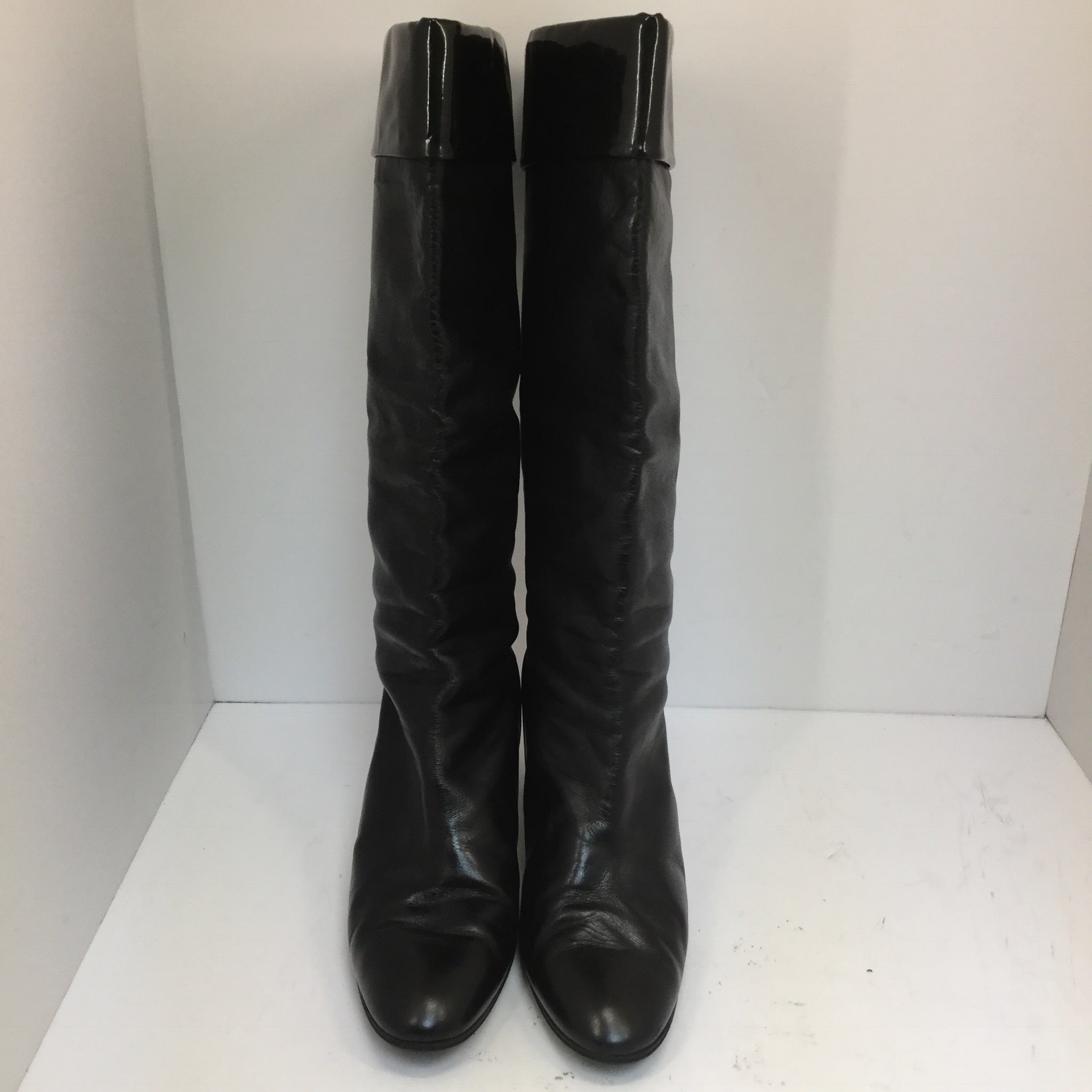 Pollini Black Leather Boots - size 37.5
