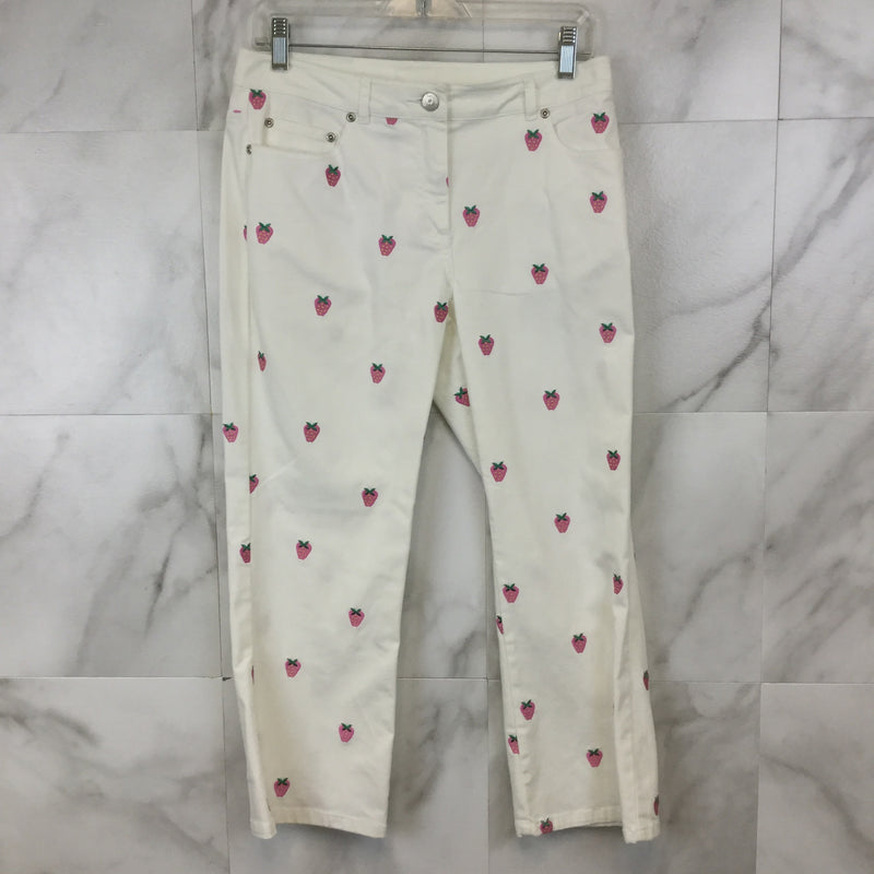 Lilly Pulitzer Strawberry Capri Pants - size 4