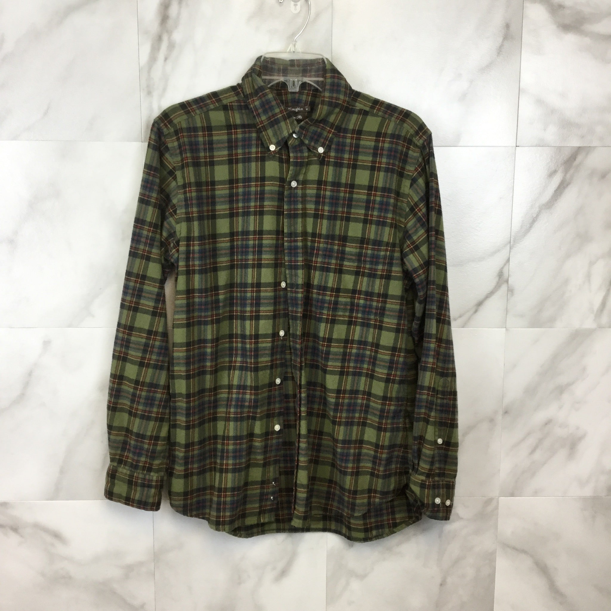 J. McLaughlin Flannel Button Down - Size M