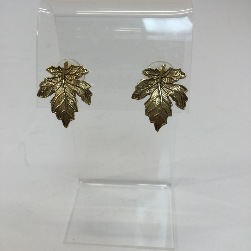 St. John Leaf Clip Earrings