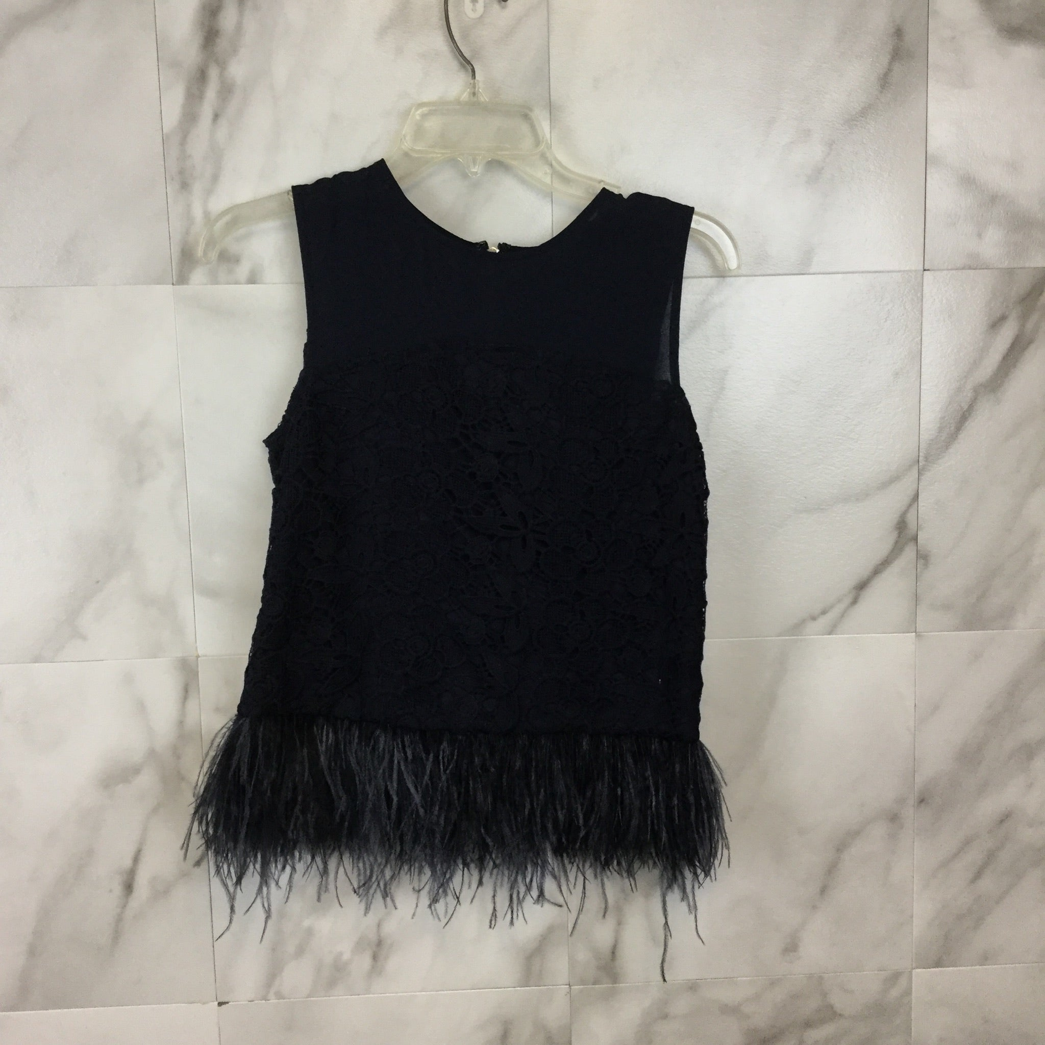 New! Anthropologie Greylin Feather Fringe Top - Size XS